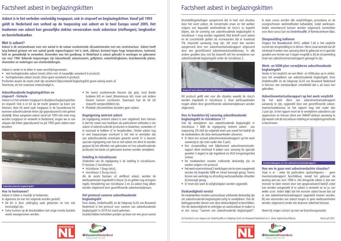 Update Factsheet Asbest In Beglazingskitten